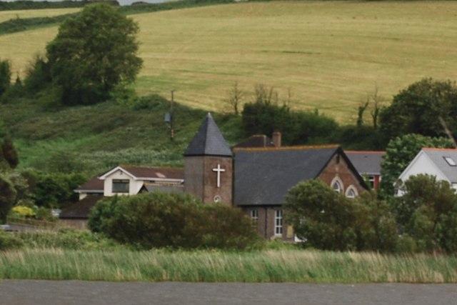Torcross Church seen across The Ley