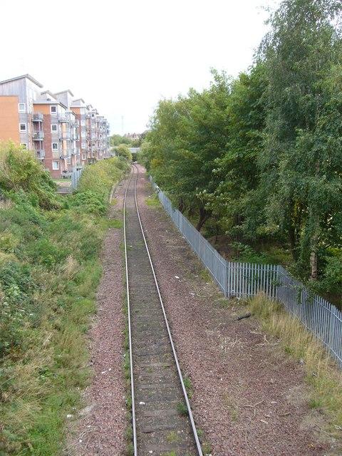 Railway line, Easter Road