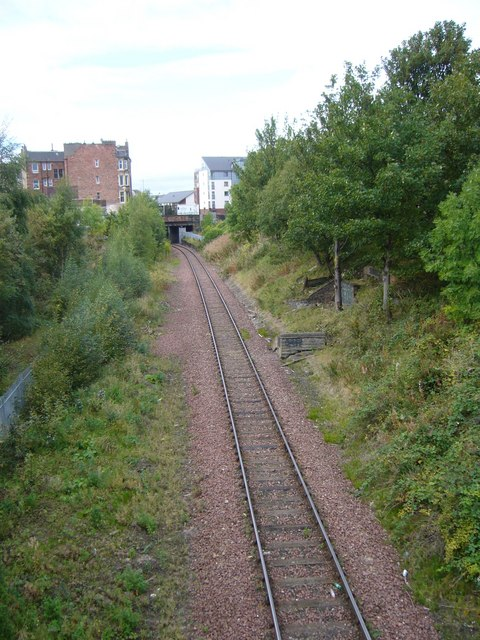 Railway line from Crawford Bridge