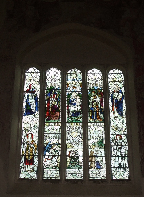 East window, St. Mary's, Canons Ashby