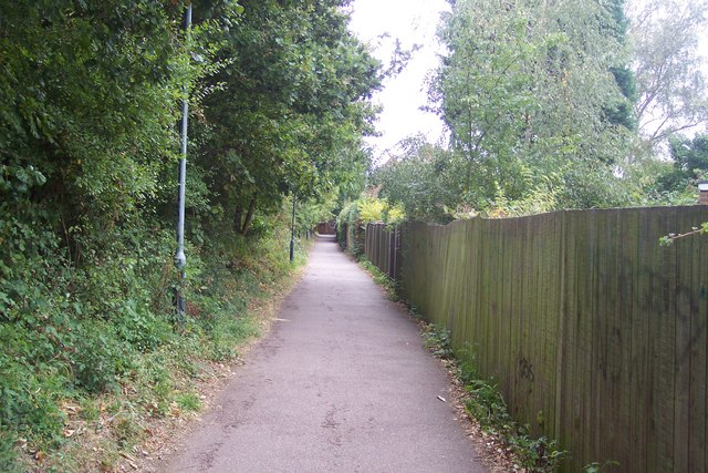 Footpath from Beaconsfield Road past St. Stephen's Playing Field