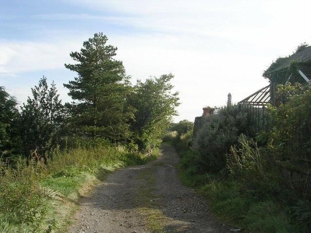 Hag Lane - viewed from Ploughcroft Lane