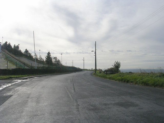Bradford Old Road - viewed from Ploughcroft Lane