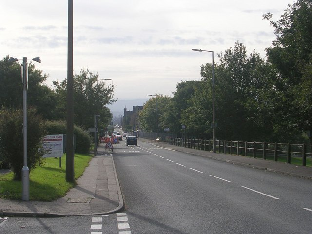 Boothtown Road - viewed from Crown Road