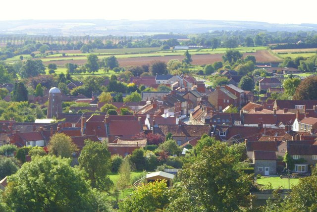 Kirkbymoorside from Vivers Hill
