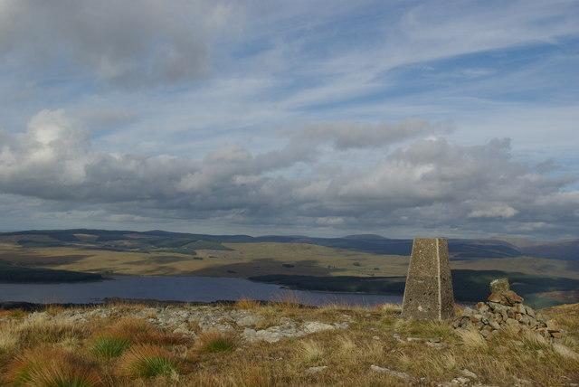 Trig point & cairn on Craiglee