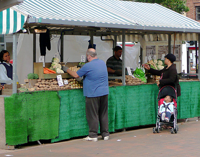 Lewis's vegetables in Wolverhampton Market