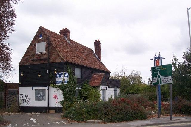Closed fast food restaurant