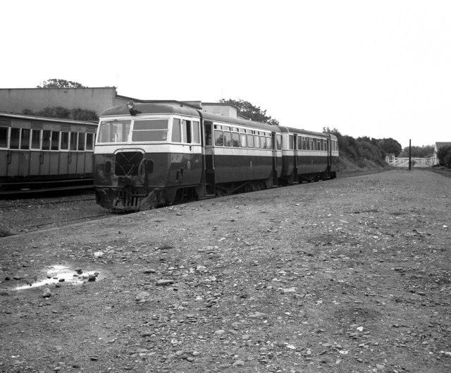 Diesel railcars at Port Erin