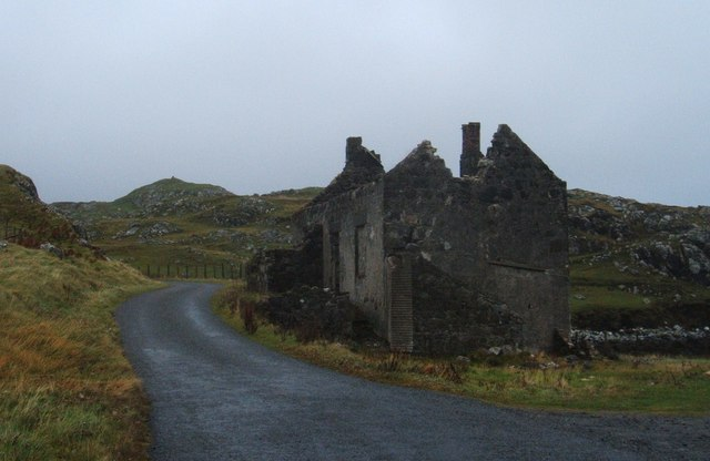 Ruined house at Rodel
