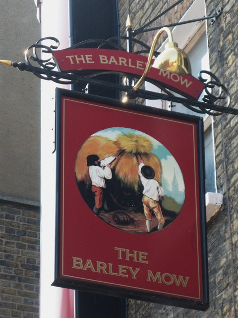 Sign for The (former) Barley Mow, Dorset Street, W1