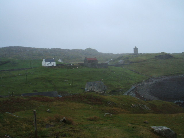 St Clement's church and houses at Rodel