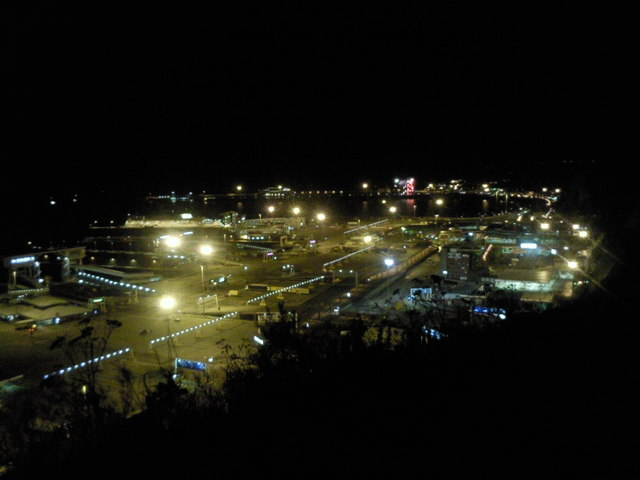 Dover Harbour at night