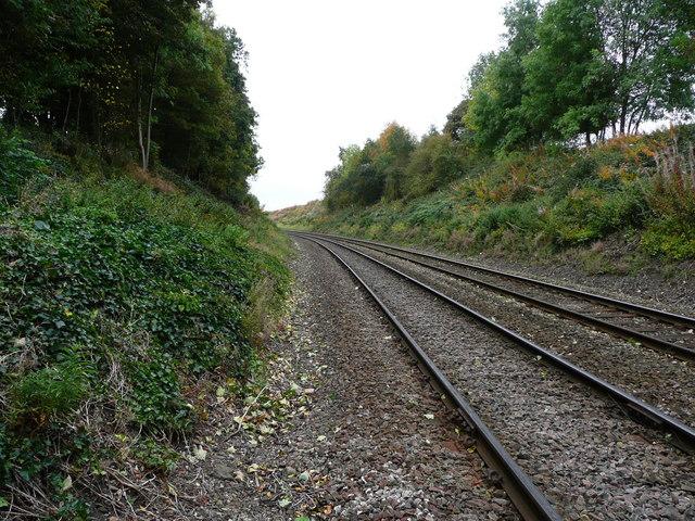 Looking down the line towards Weston Rhyn