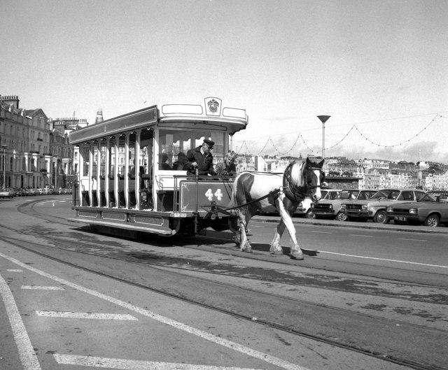 Horse car No 44 at Victoria Pier