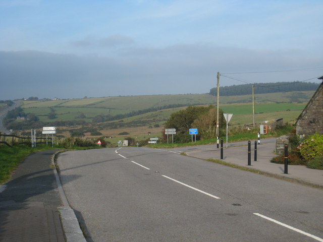 Road junction in Bolventor village