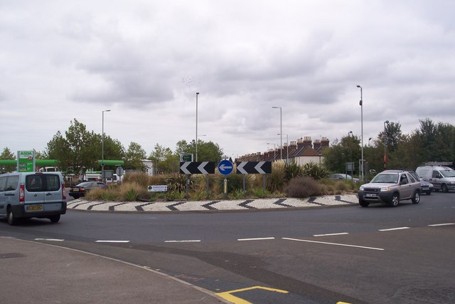 Roundabout on the A28 Sturry Road