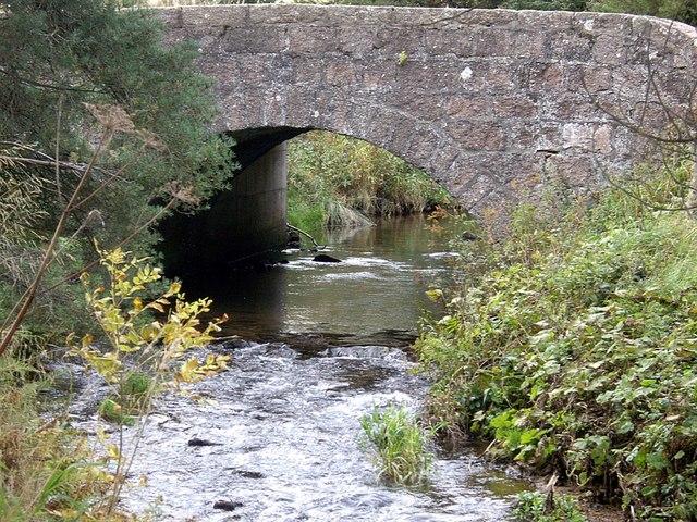 Upstream Leochel Burn