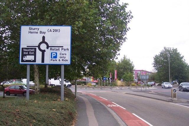 Roundabout near Sturry Retail Park