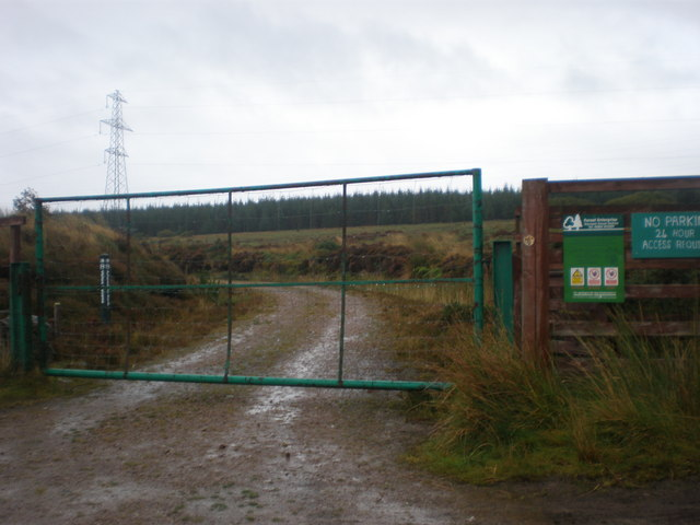 Gates on track to Loch Beinn Domhnaill