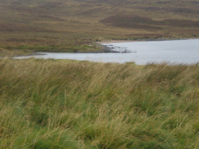 Gate in water at head of Loch Buidhe