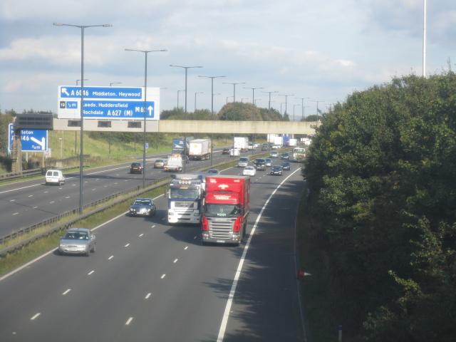 M62 Motorway At Birch Services