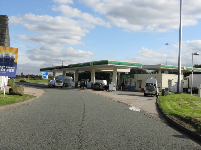 Birch Services (M62) - Petrol Station, Eastbound Side