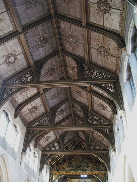 St. Cyprian's Church, Glentworth Street, NW1 - interior roof