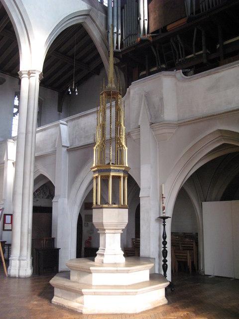 St. Cyprian's Church, Glentworth Street, NW1 - font