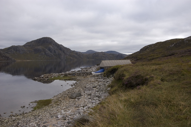 Boat House and Loch Suaineabhal