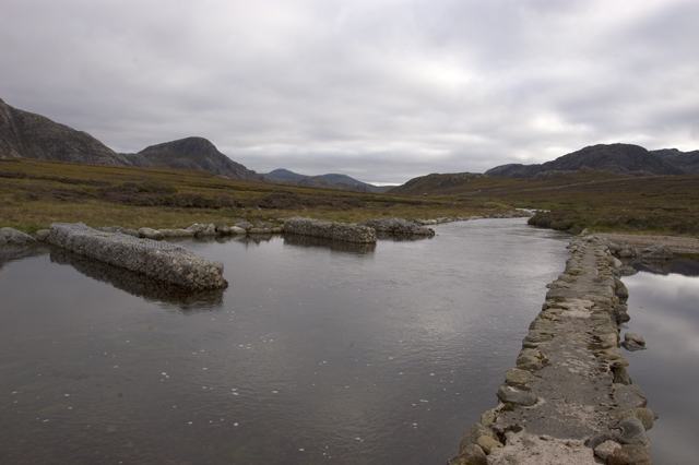 Pier and erosion control at the inlet of Loch Stacsabhat