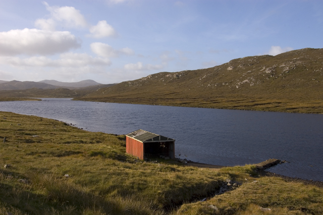 Loch Croistean and boathouse