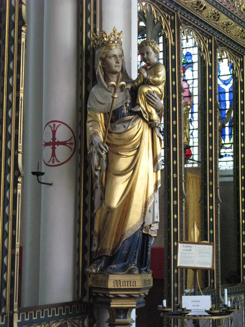 St. Cyprian's Church, Glentworth Street, NW1 - statue in side chapel