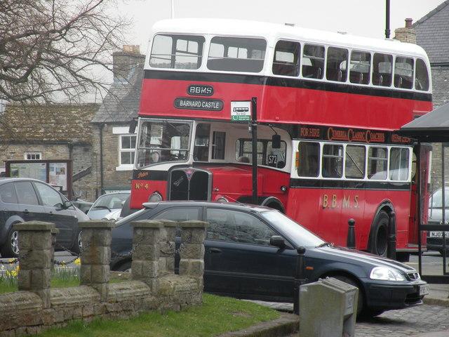 Vintage bus in Middleton-in-Teesdale