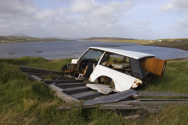 Rubbish tip by Loch Barraglom
