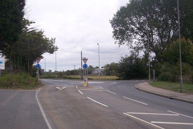 Roundabout on Broad Oak Road