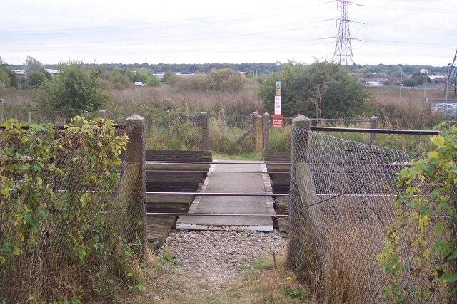 Level Crossing near Broad Oak Road