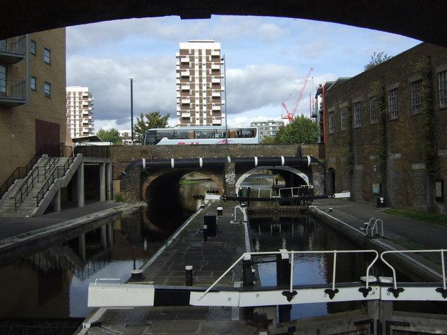 Commercial Road lock and road bridge