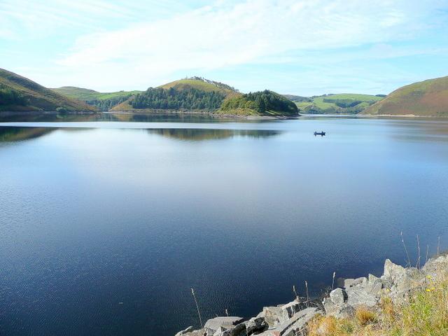 A calm October day on Llyn Clywedog