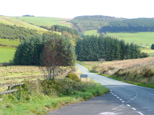 Mountain road to Llanidloes