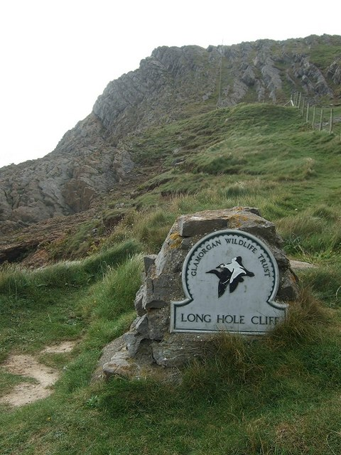 Long Hole Cliff, The Gower