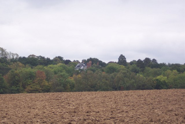 View of Alcroft Grange in Little Hall Wood