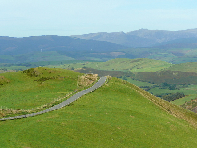 Mountain road to Machynlleth