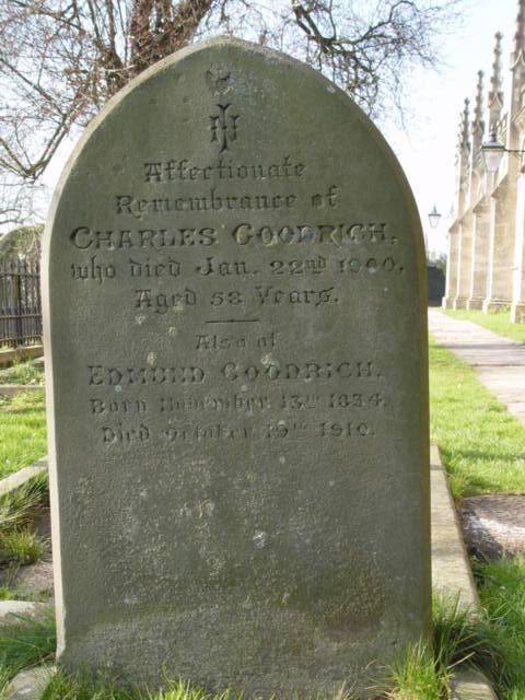 Charles Goodrich gravestone St Mary's Tetbury