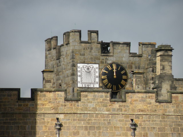 Clock tower Raby Castle