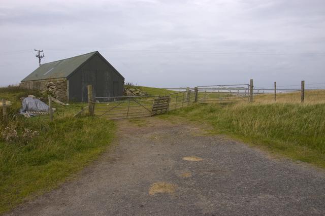 The road end at Iolaraigh