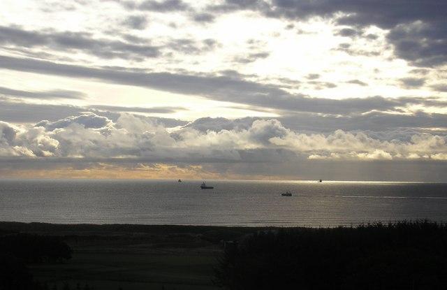Dawn over Aberdeen Beach and Golf Links