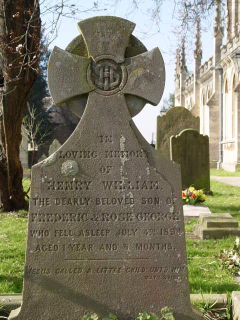George gravestone St Mary's Tetbury.