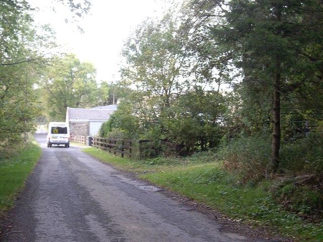 Road by Burncruinach farm