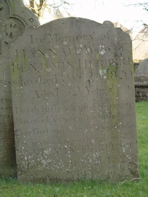Benjamin Herbert gravestone St Mary's Tetbury.